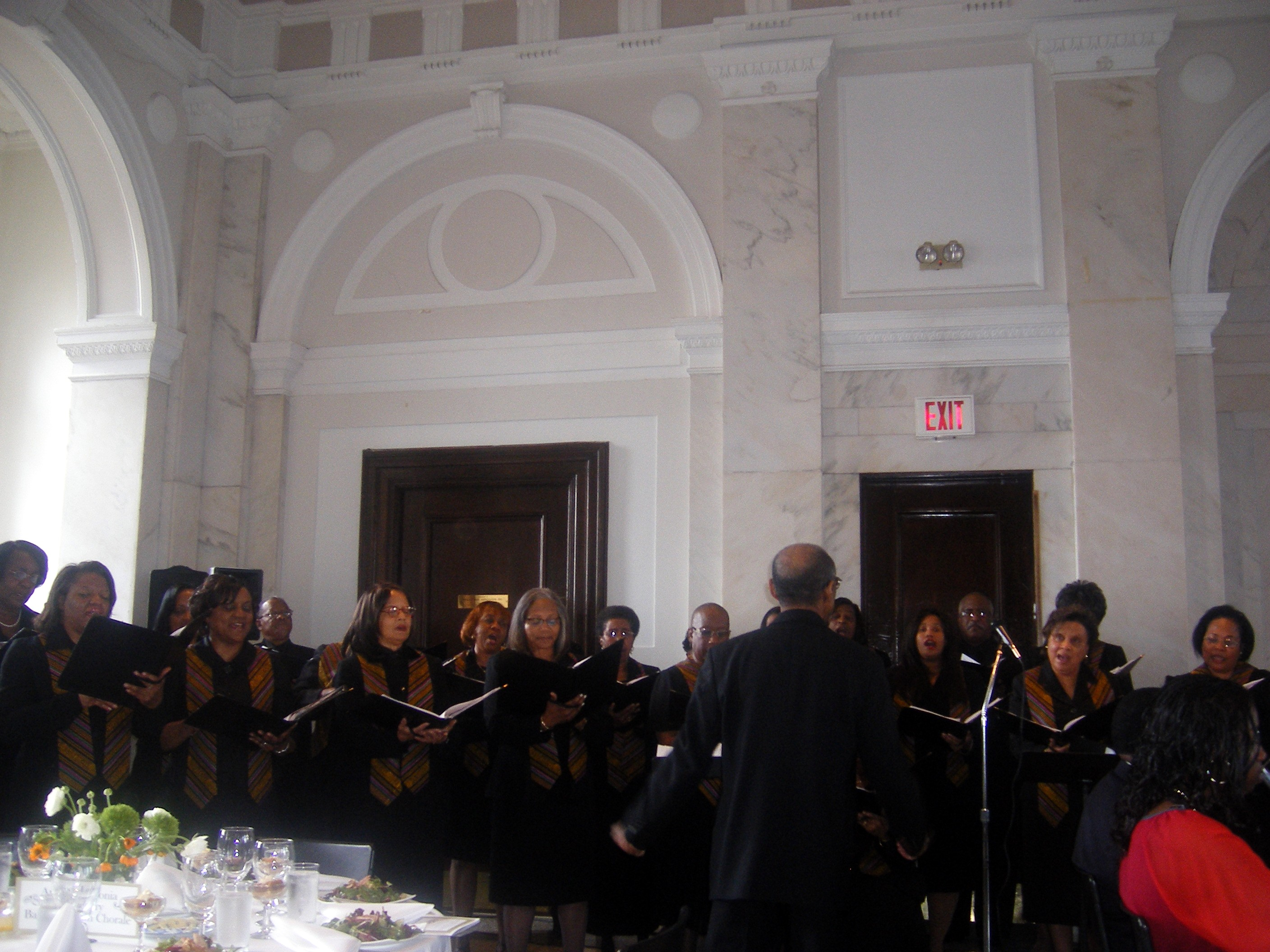 The James C. Ward Classical Arts Chorale Performs at the Celebration