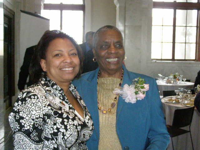 Commissioner Cunningham and Mayor Emerita Elizabeth Wilson