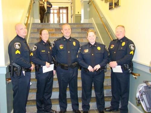 Sgt. Woodruff, Sgt. Canipe, Lt. Hensel, Sgt. Ross, Sgt. Karolyi