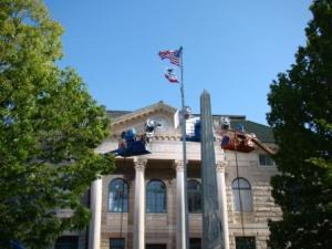 California Flag Flies on Old Courthouse!