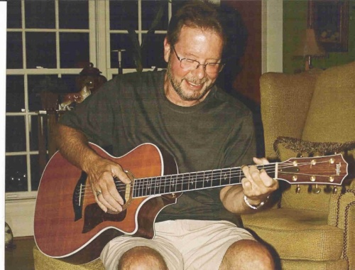 Barry at Home With His Guitar