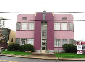 This is Art Deco and the pink color is just so great!