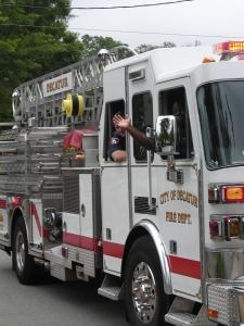 Firefighters Provide An Escort