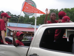 Young Players Enjoy Opening Day Parade