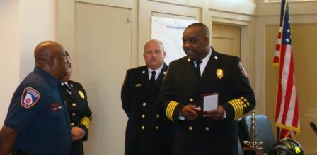Asst. Chief Toronto Thomas Presenting Badges