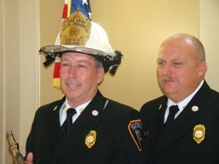 Chief Jerry Malone and Asst. Chief Hatcher