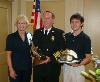 Chief Malone with his Wife Sherry and Son Chris