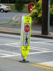 cross walk sign