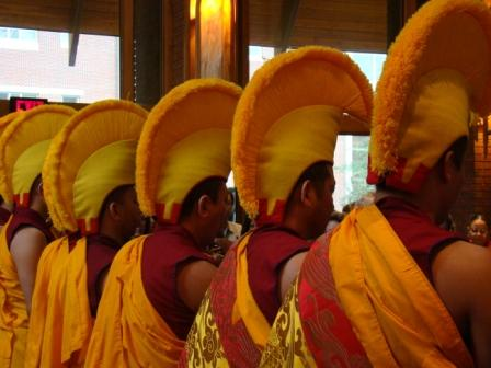 Monks Performing the Closing Ceremony