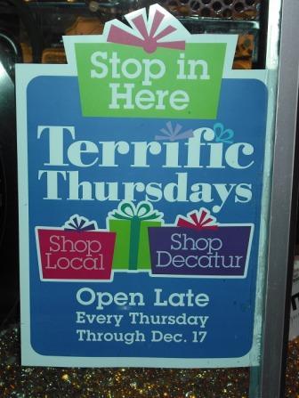 terrific thursday sign in window