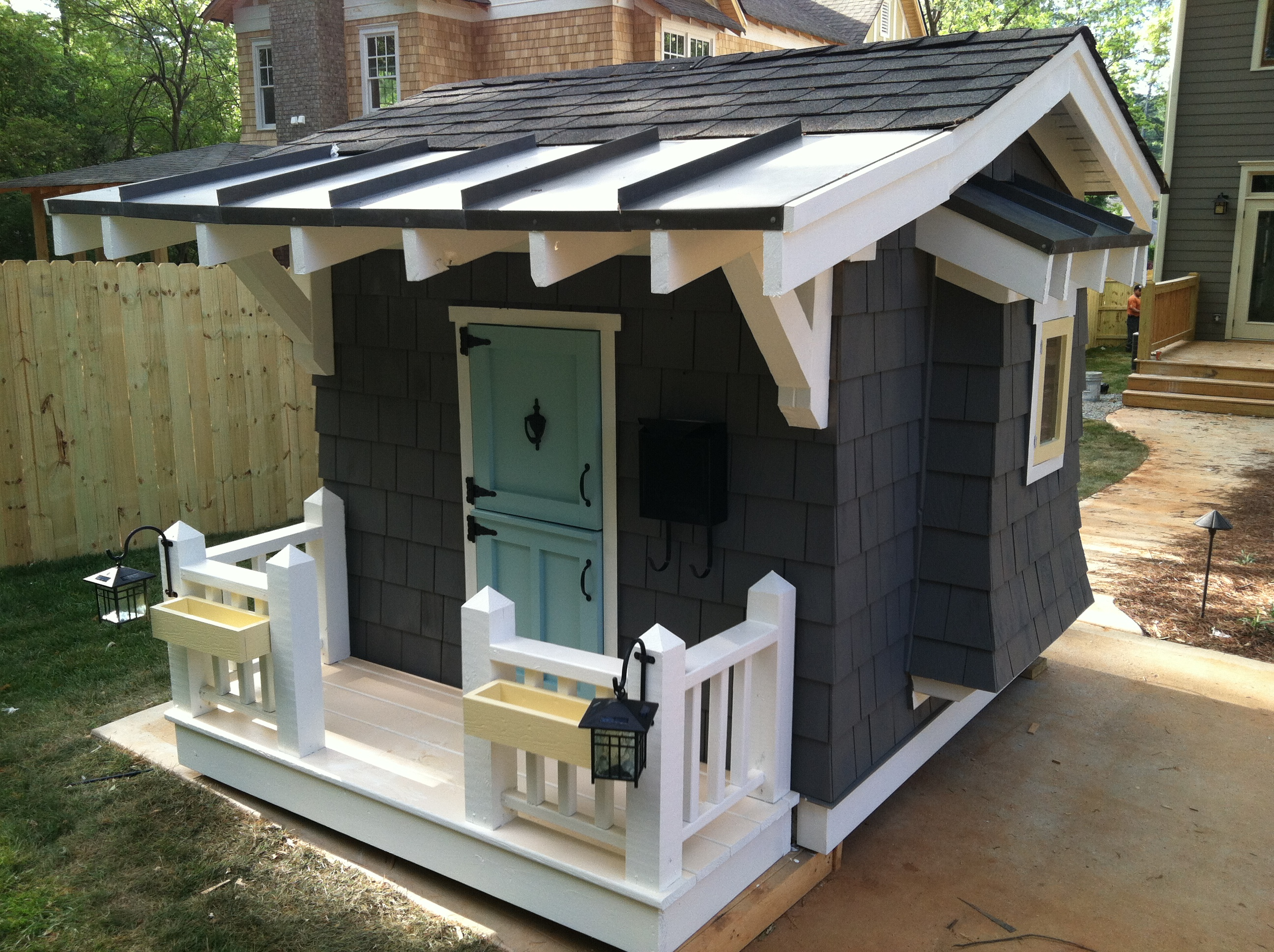Who wants a playhouse the decatur minute for How to make a playhouse out of wood